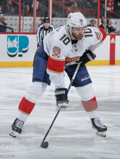 OTTAWA, ON - JANUARY 2: Brett Connolly #10 of the Florida Panthers skates against the Ottawa Senators at Canadian Tire Centre on January 2, 2020 in Ottawa, Ontario, Canada. (Photo by Andre Ringuette/NHLI via Getty Images)