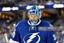 ST. PETERSBURG, FL - FEBRUARY 21: Tampa Bay Lightning goalie Ben Bishop (30) during the first period of an NHL game between the Edmonton Oilers and the Tampa Bay Lightning on February 21, 2017, at Amalie Arena in Tampa, FL. (Photo by Roy K. Miller/Icon Sportswire via Getty Images)