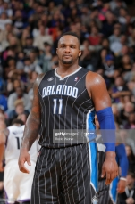 SACRAMENTO, CA - JANUARY 10: Glen Davis #11 of the Orlando Magic in a game against the Sacramento Kings on January 10, 2014 at Sleep Train Arena in Sacramento, California. NOTE TO USER: User expressly acknowledges and agrees that, by downloading and or using this photograph, User is consenting to the terms and conditions of the Getty Images Agreement. Mandatory Copyright Notice: Copyright 2014 NBAE (Photo by Rocky Widner/NBAE via Getty Images)